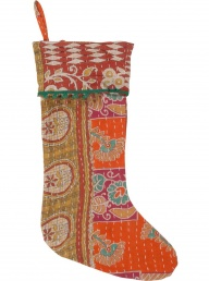 Basha Vintage Kantha Christmas Stocking