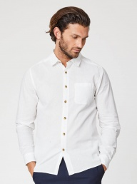 Thought Avro Classic Hemp Shirt-White