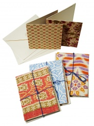 Pack of 5 Recycled Sari Cards