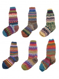Hand Knitted Wool Fairisle Socks