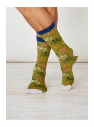 Cycler Bamboo Socks - Olive