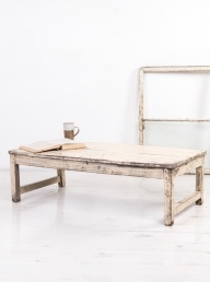 Vintage White Wooden Coffee Table