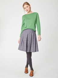 Thought Poem Print Tencel Skirt