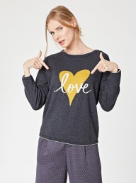 Thought Love Heart Organic Sweater