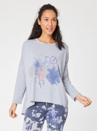 Oversized Tee With Flower Splash Print