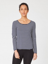 Thought Bamboo Jersey Top-Navy Stripe